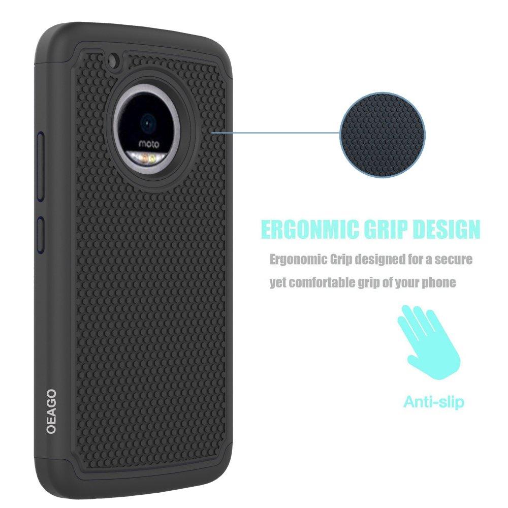 Amazon.com: OEAGO Moto G5 Plus Case, Moto G Plus (5th Generation) Case, [Shockproof] [Impact Protection] Hybrid Dual Layer Defender Protective Case Cover ...