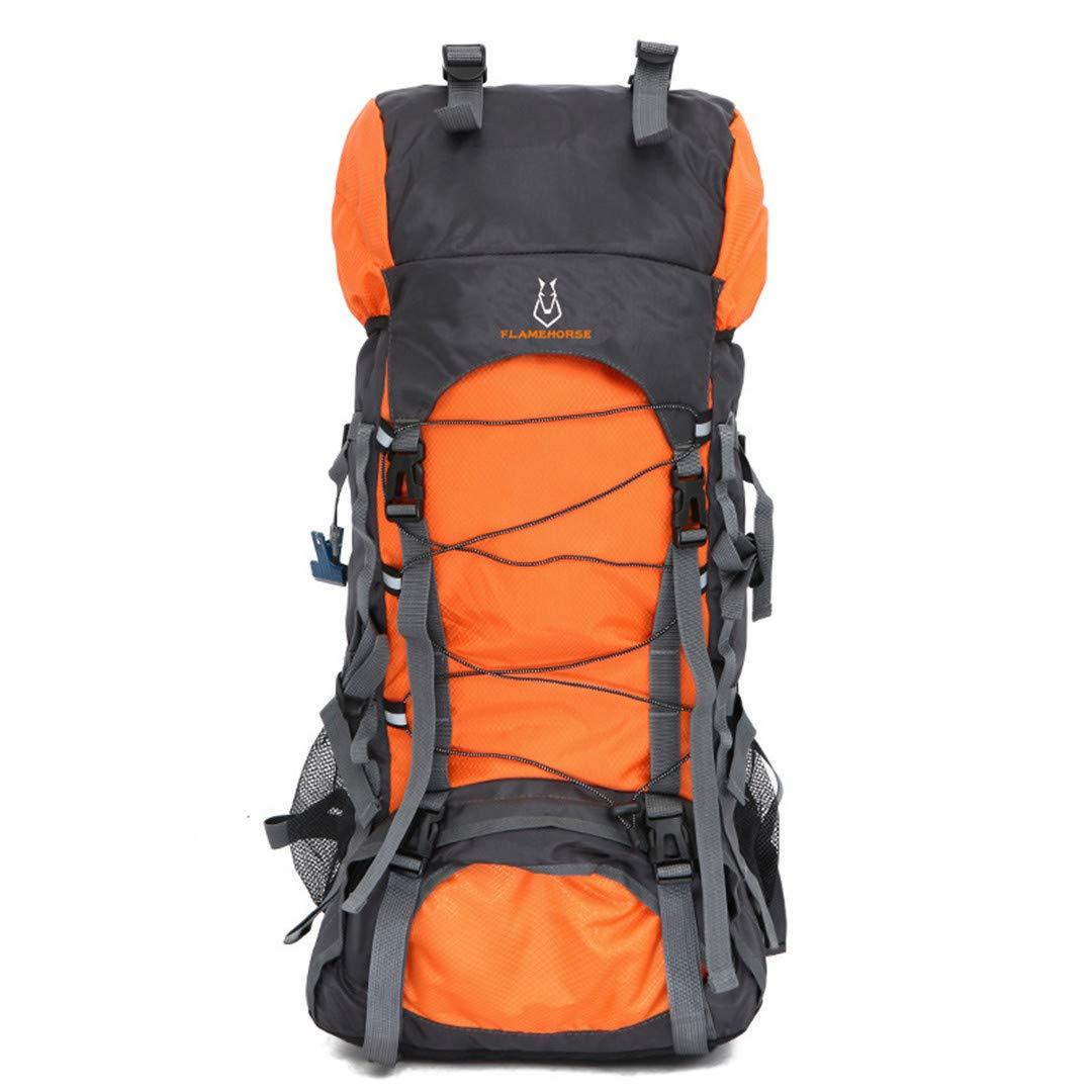 アウトドア 旅行 バックパック メンズ レディース キャンプ 登山 ハイキング バックパック 50 - 70L オレンジ B07KGDBQXZ