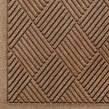 "Andersen 221 Waterhog Fashion Diamond Polypropylene Fiber Entrance Indoor/Outdoor Floor Mat, SBR Rubber Backing, 3' Length x 2' Width, 3/8"" Thick, Medium Brown"