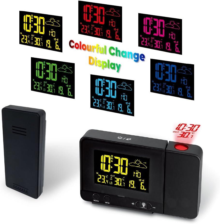 Protmex Despertador de la Proyección, Reloj y Despertador ...
