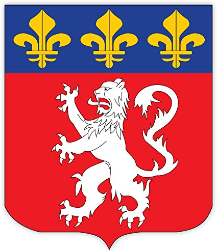 "Amazon.com : Lyon city coat of arms France sticker decal 4"" x 5 ..."