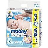 【Amazon.co.jp】ムーニー テープ S(4~8kg) エアフィット 102枚
