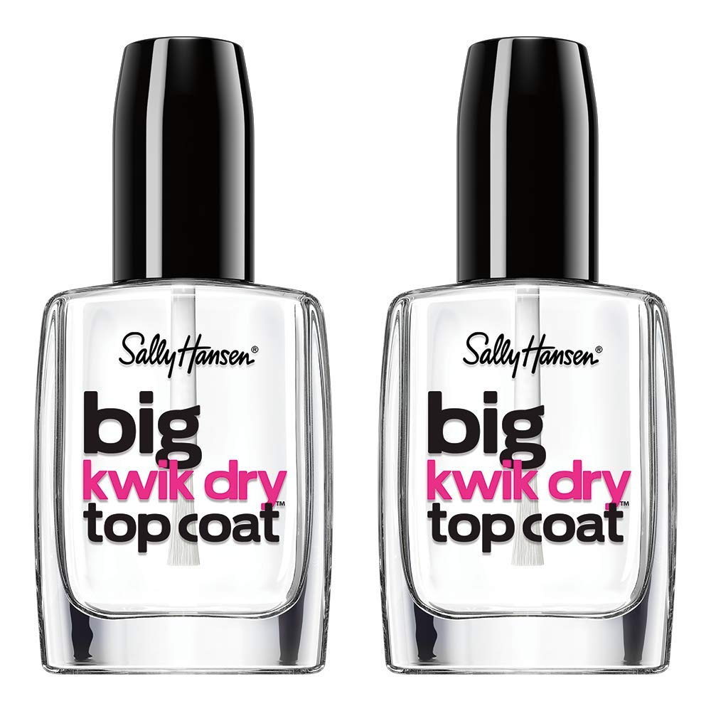 Sally Hansen Big Kwik Dry Top Nail Coat Treatment, 0.4 Fl Oz, 2 Count by Sally Hansen