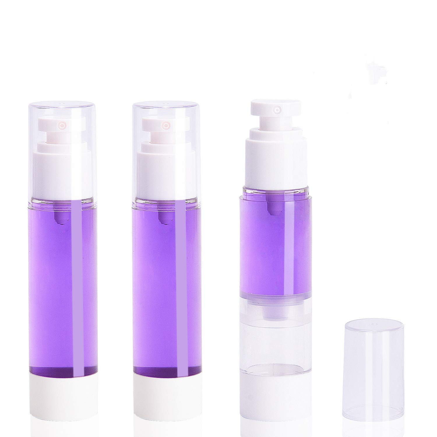 3 Pack Airless Vacuum Face Mist Spray Bottle, 50ml/1.7oz Ultra Fine Mist Water Sprayer Atomizer Aerosol, Refillable Makeup Cosmetics Toiletry Organizer Travel Containers for Lotion Toner Liquid