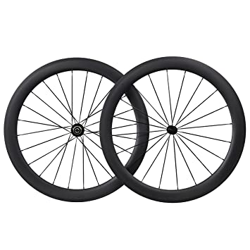 50mm Aero 700C Carbono Carretera Bicicleta Clincher Tubeless Ready 25mm Breit Rueda CN Habló: Amazon.es: Deportes y aire libre