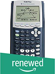 Texas Instruments TI-84 Plus Graphics Calculator, Black (Renewed)
