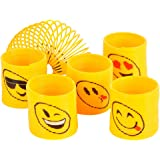 Emoji Coil Springs Toy, For Birthday Party Favors (12 Count)