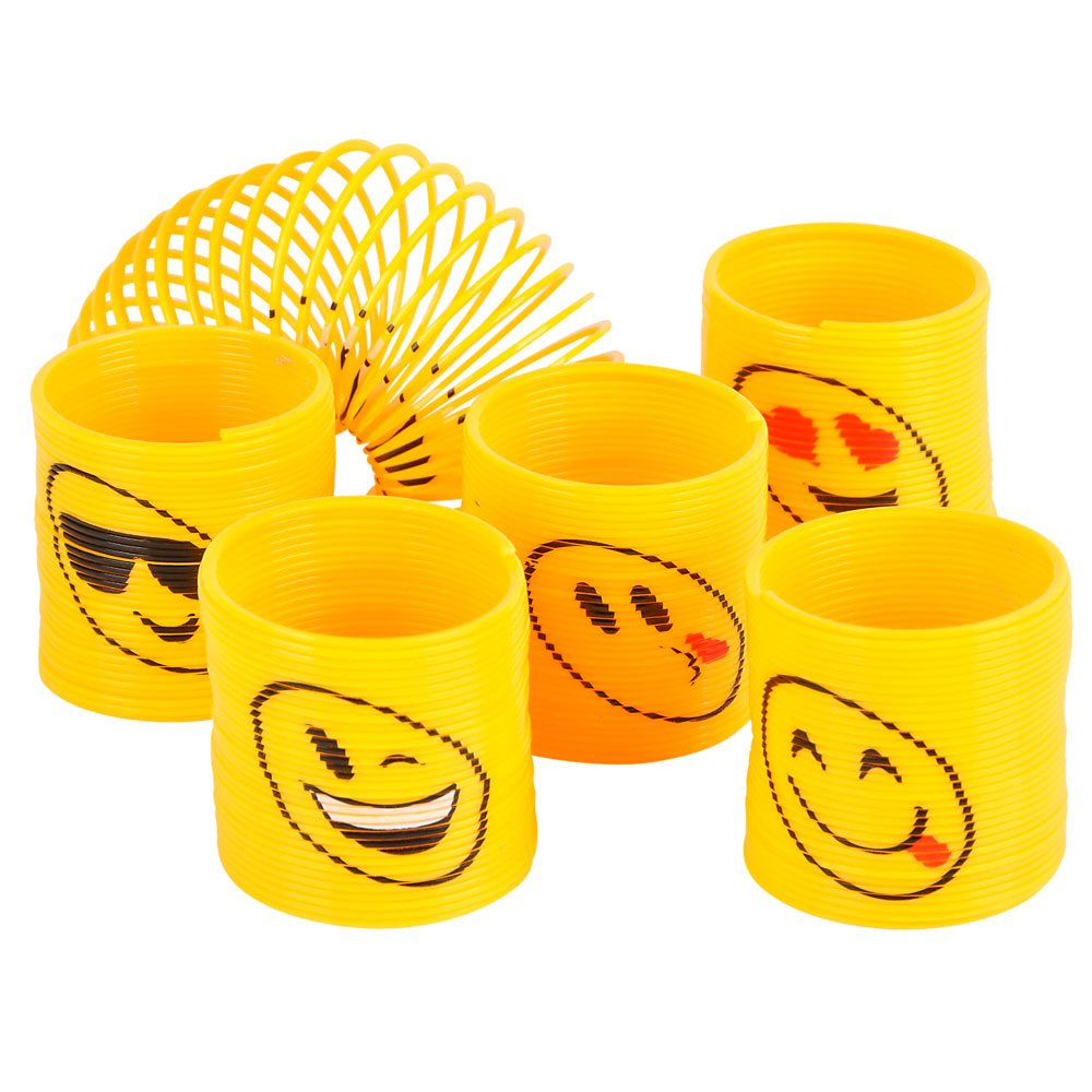 Amazon Emoji Coil Springs Toy For Birthday Party Favors 12 Count Kitchen Dining
