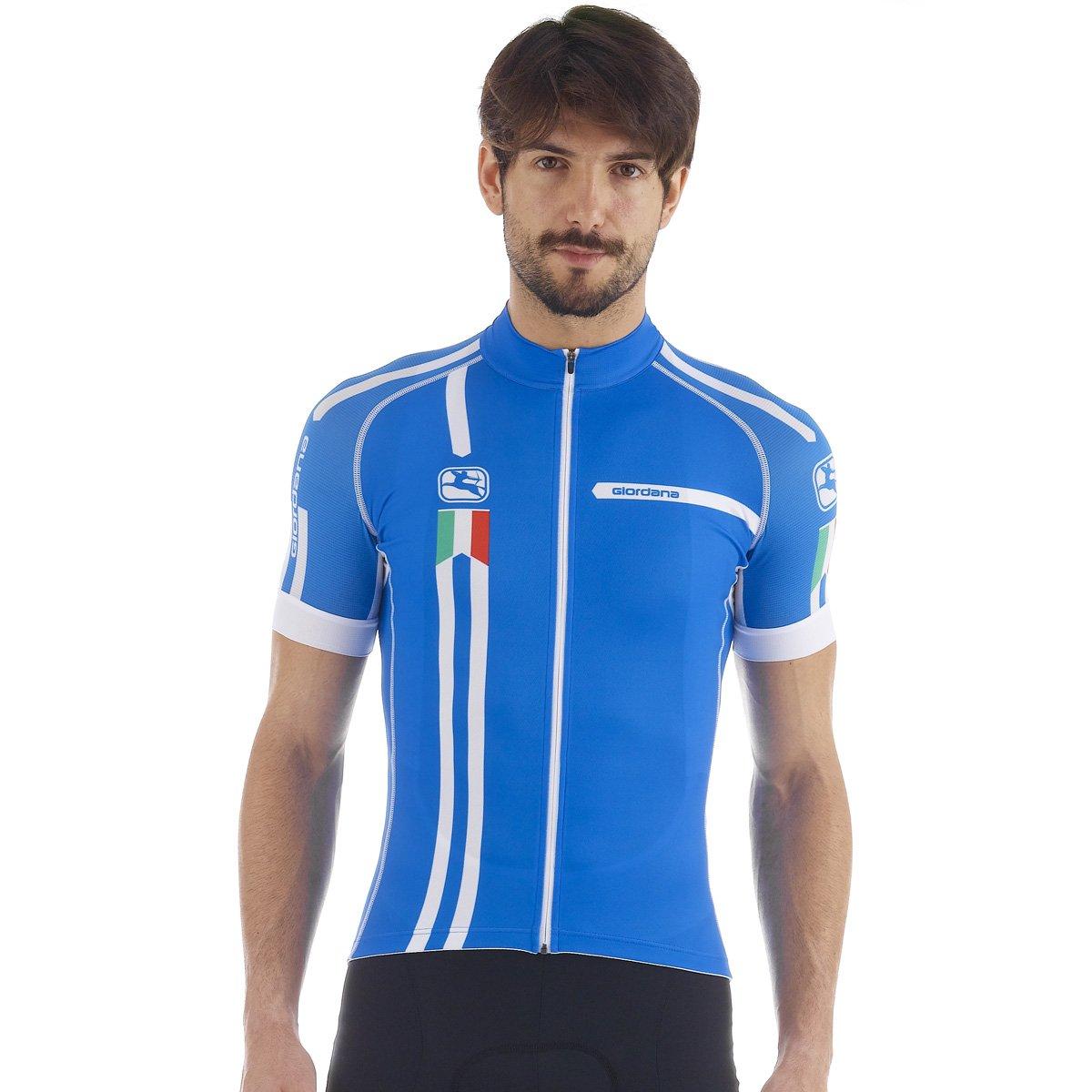 Giordana Mens Azzurro Trade Scatto Short Sleeve Cycling Jersey GI-S5-SSSC-AZZU