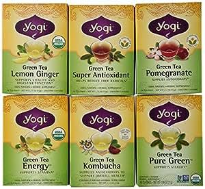 Yogi Tea Green Tea 6 Flavor Variety Pack (Pack of 6)