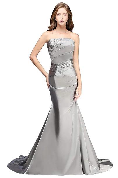 034c4f37f Vestidos De Noche De Vestidos Largos Satén Vestidos De Mode De Marca Novia  De Verano Sin
