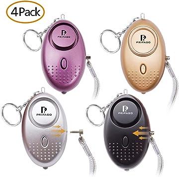 Personal Alarm 130dB Sound Alert Burglar Alarm Keychain LED For Woman Security