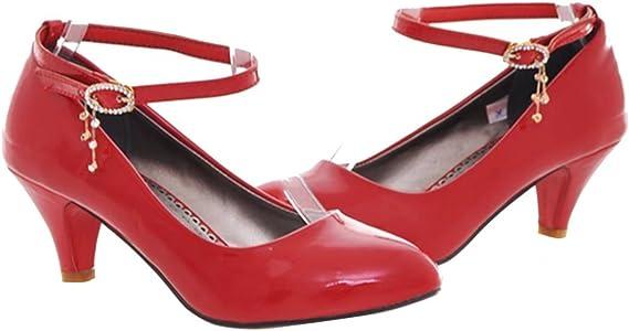 online retailer c2f97 83b47 Damen Lack Kitten Heel Pumps mit 5cm Absatz Retro Bequem Kleinem Absatz  Schuhe. AIYOUMEI Damen Lack Kitten Heel Pumps mit 5cm Absatz Retro Bequem  Kleinem ...