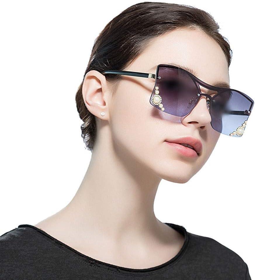 BAOLH Occhiali da Sole Occhiali da Sole squisita da Donna Perline, Lenti Marine, Protezione UV (Colore : Violet) Brown/Pink