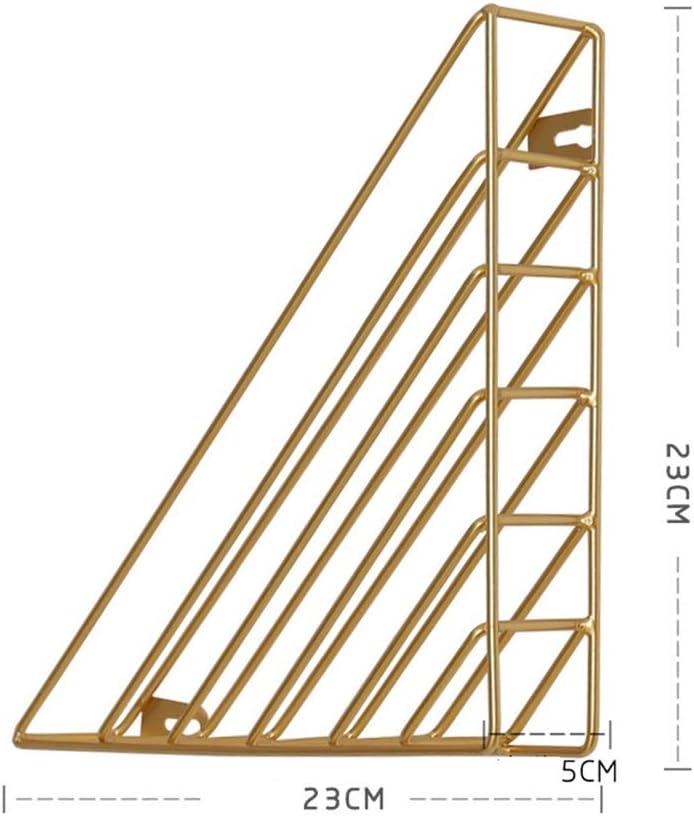Goldfarben Dekorativ 23 * 23 * 5CM Jianjianbing Magazine Rack Kompaktes Design Dekorative Zeitung Basket for Bodentisch-Wandhalterung 2 St/ück Metall Magazinhalter