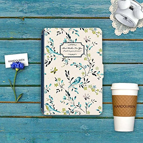 Kindle Paperwhite Book Cover Art : Kandouren case cover for amazon kindle paperwhite blue