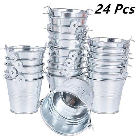 24pcs Mini Cubos Metal 5,5 x 5,2 x 4cm Dulces Caramelos Decoración Mesas Candy Bar Detalles Regalos Invitados de Boda Fiesta Bautizo Cumpleaños ...