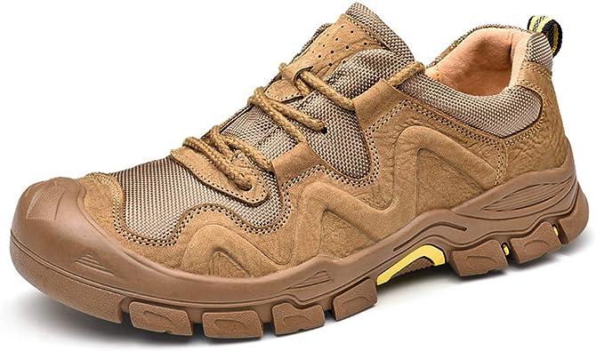 WMZQW Zapatillas de Senderismo para Hombre Zapatillas de ...