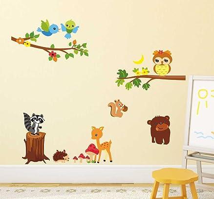 Exceptional Decals Design U0027Lovely Jungle Themeu0027 Wall Sticker (PVC Vinyl, 50 Cm X