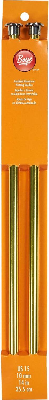 """Boye Single Point Aluminum Knitting Needles 14/""""-Size 15//10mm"""