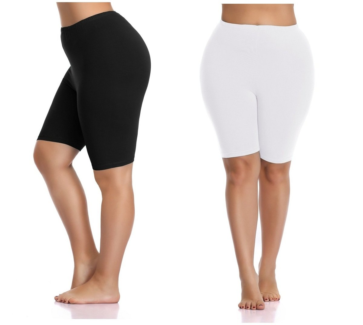 Kotii Women's Plus Size Short Leggings Cotton Shorts Under Dresses Leggings Pants,1Pack
