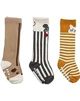 Honanda Toddler Girl Sweet Animal Pattern Knee High Socks Tube Socks 3 Pairs