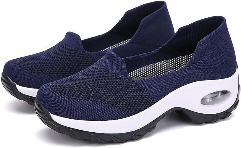 Scarpe da Ginnastica Donna Sportive Velcro Scarpe con Cuscino d'Aria Piattaforma Running Corsa Estivi Scarpe da Coppia Scarpe Donna Sportivo