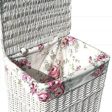 Wäschekorb Vintage landhausstil wäschekorb mit deckel korb 60cm amazon de küche