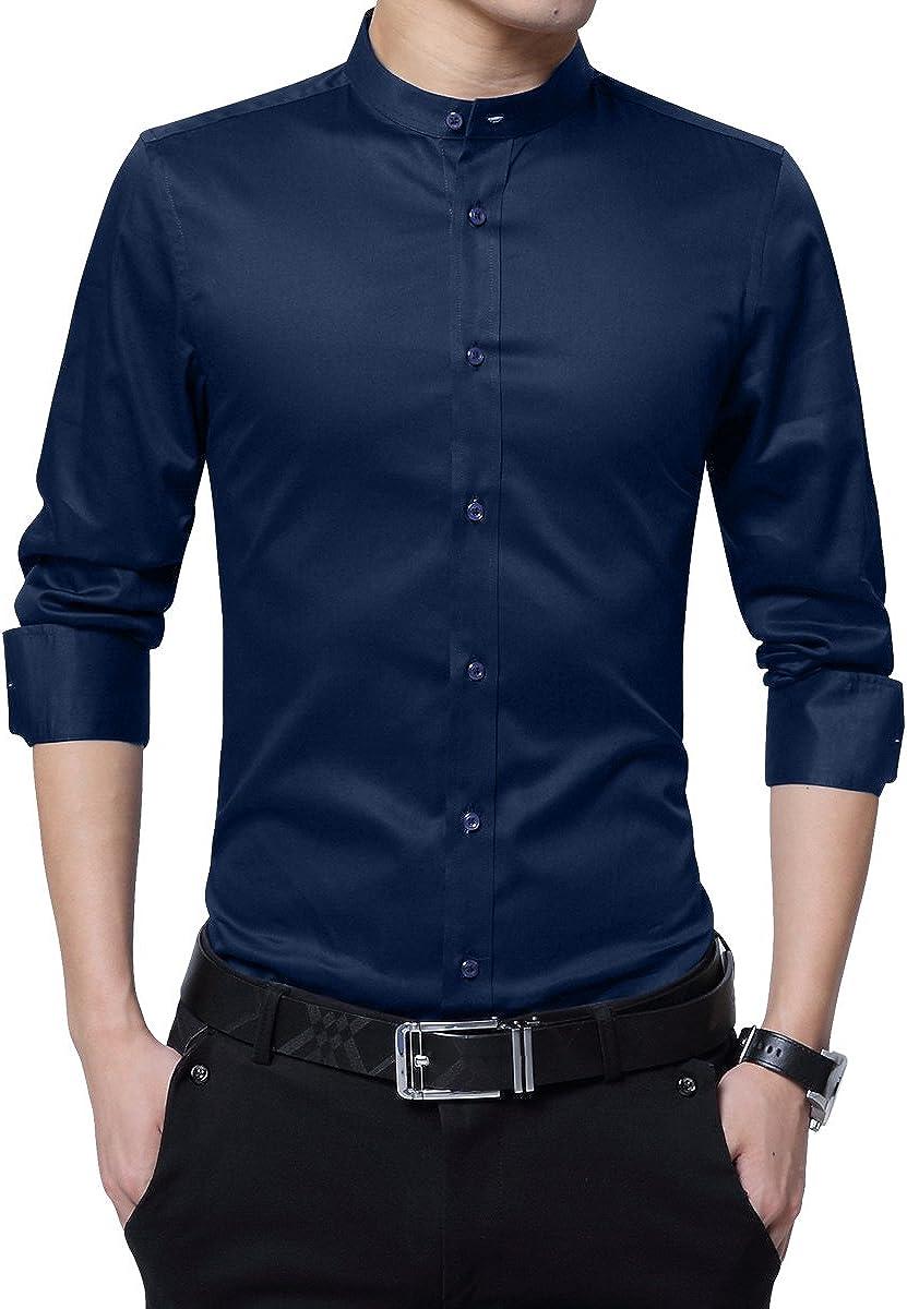 Camisa de Vestir Casual para Hombre Camisas Steampunk Blancas y Negras de Vino Negro Camisa de Manga Larga Slim Fit con Cuello Abotonado con Cuello Abotonado Camisas: Amazon.es: Ropa y accesorios