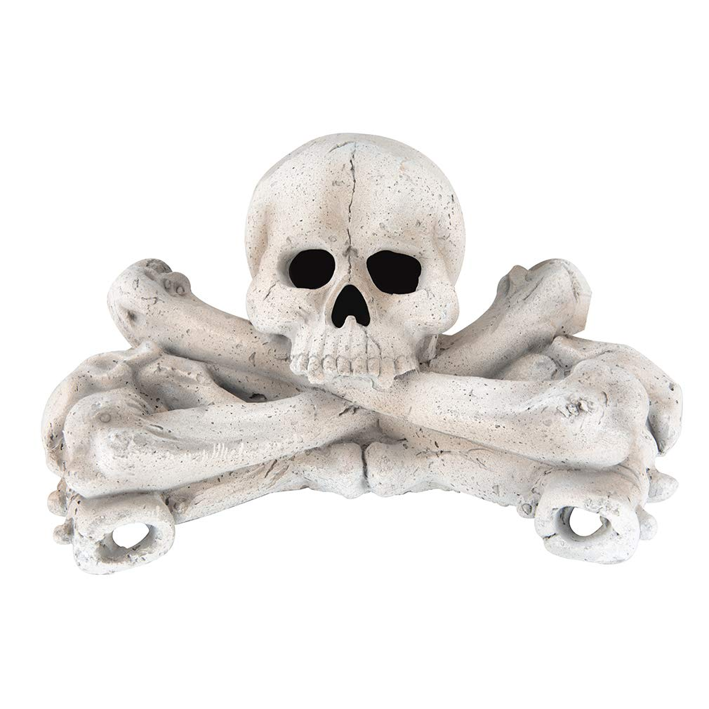 1-Pack White Stanbroil 9-Inch Imitated Human Skull Gas Log for Indoor or Outdoor Fireplaces Fire Pits Halloween Decor