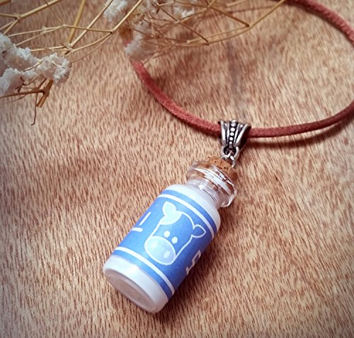 The Legend of Zelda Lon Lon Ranch Milk Bottle Necklace - Potion Pendant inspired by Ocarina of Time
