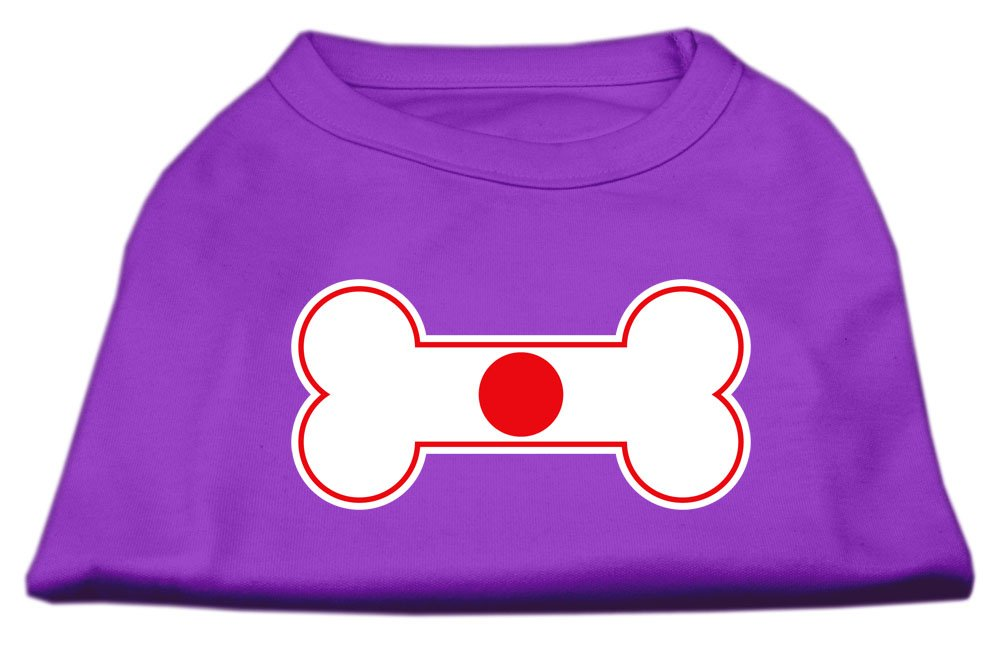 Mirage Pet Products 12-Inch Bone Shaped Japan Flag Screen Print Shirts for Pets, Medium, Purple