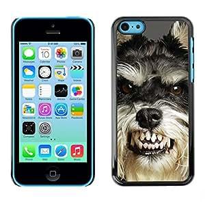 Be Good Phone Accessory // Dura Cáscara cubierta Protectora Caso Carcasa Funda de Protección para Apple Iphone 5C // Angry Dog Teeth Cairn Terrier Pet