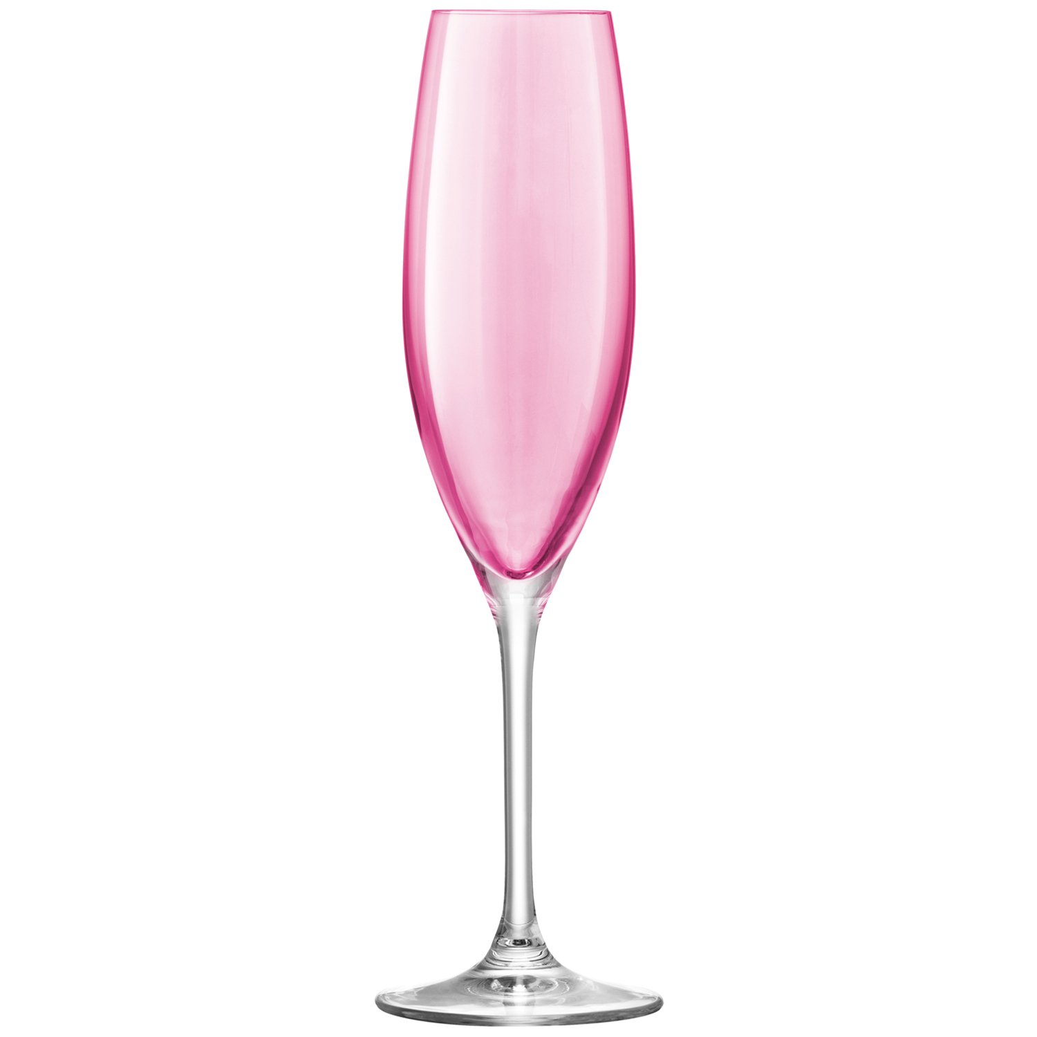 LSA International Pastel Polka Champagne Flute 4 Pack , 7.6 fl. Oz., Assorted