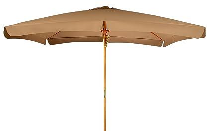 Trademark Innovations 10u0027 Rectangular Wood Frame Patio Umbrella ...