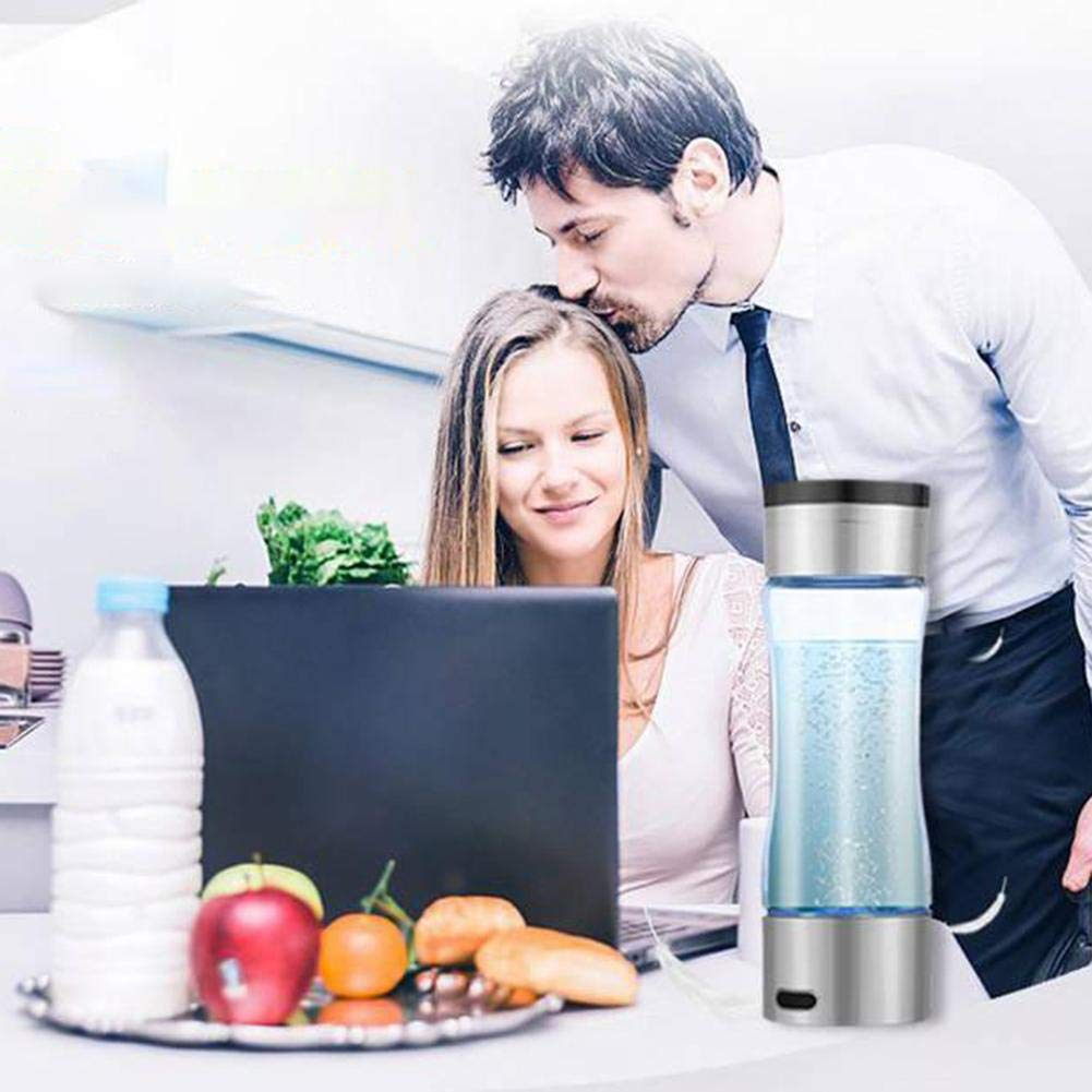 Wasserstoffreicher Becher Hohe Konzentration Negative Ionen Mikroelektrolyse Gesundheitswesen Wasserflasche Glas