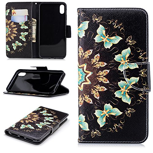 Belkin Hands Free Leather Case - iPhone XS Max Wallet Case, iPhone XS Max Case, Dooge [Kickstand Feature] Premium PU Leather Folio Flip Protective Case with Cash Card Slots Holder/Magnetic Closure for iPhone XS Max 6.5 inch