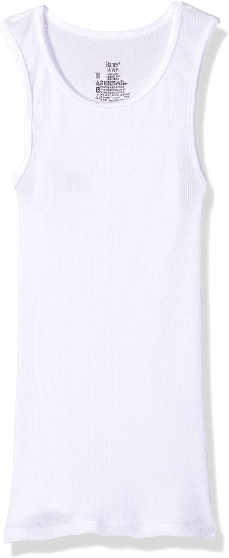Hanes Boys Ultimate ComfortSoft White Tank Undershirt 5-Pack