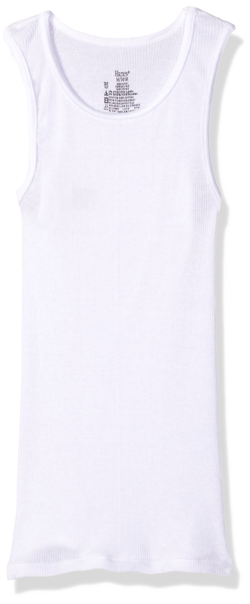Hanes Boys' Big Ultimate Cool Comfort Tank Undershirt 5-Pack, White, Extra Small