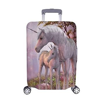 dcdde00bd698 Amazon.com | InterestPrint Unicorns Forest Luggage Cover Suitcase ...