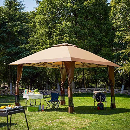 12x12 Pop Up Canopy Outdoor Portable Party Wedding Tent with One Sidewall (NOT Netting sidewalls)