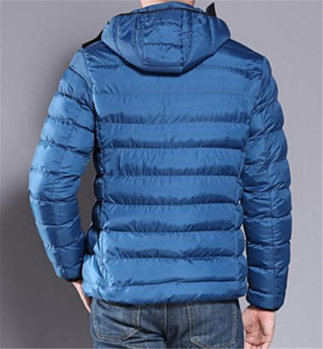 XTX Mens Winter Thicken Waterproof Hooded Warm Padded Quilted Down Puffer Jacket