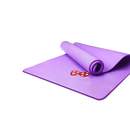 QAR - Alfombrilla de Yoga para niños y niñas, Color Morado ...