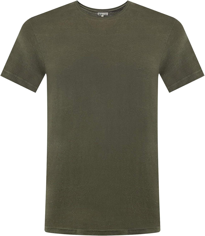 T-shirt girocollo ecologica in cotone organico canapa uomo