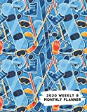 2020 Weekly & Monthly Planner: Winter Snowboarding Skiing Themed Calendar & Journal