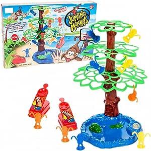 Nuevo! Jumping Monkeys – Geniales Katapult Juego de acción mono juego familiar juego de sociedad, juego de habilidad con alto factor de diversión: Amazon.es: Juguetes y juegos