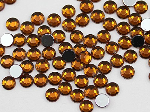 (2.5mm SS9 Brown Smokey Topaz A22 Acrylic Rhinestones For Face Painting, Lead Free. High Quality Pro Grade - 500 Pieces)