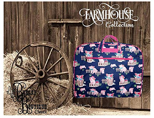 FREE Personalization ~ Farmhouse Collection ~ Pigs ~ Garmet Bag ~ Luggage ~ Weekend Bag ~ Clothes Hanger ~ Farm Life ~ Animal Print