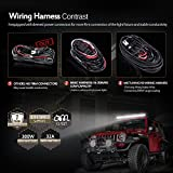 MICTUNING HD 300w LED Light Bar Wiring Harness Fuse 40Amp Relay ON-OFF Waterproof Switch(2Lead 12Feet 14AWG)