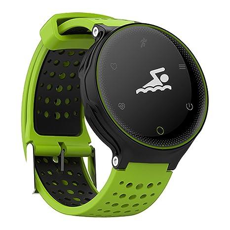 Microwear X2 Smartwatch Bluetooth 4.0 IP68 Sedentario a Prueba de Agua Sueño / Monitor de Ritmo Cardíaco Podómetro (Verde): Amazon.es: Electrónica